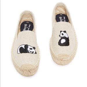 Brand New Adorable Panda Soludos - Size 8.5